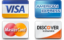 We accept Most Types of Credit Cards