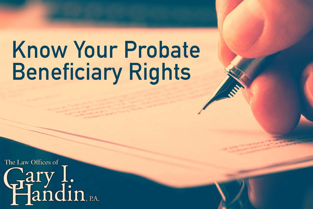 probate beneficiary rights