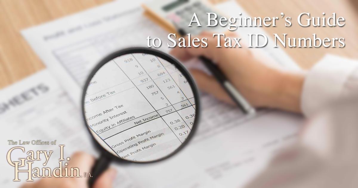 Sales Tax ID Numbers