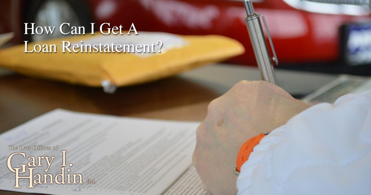 Get A Loan Reinstatement