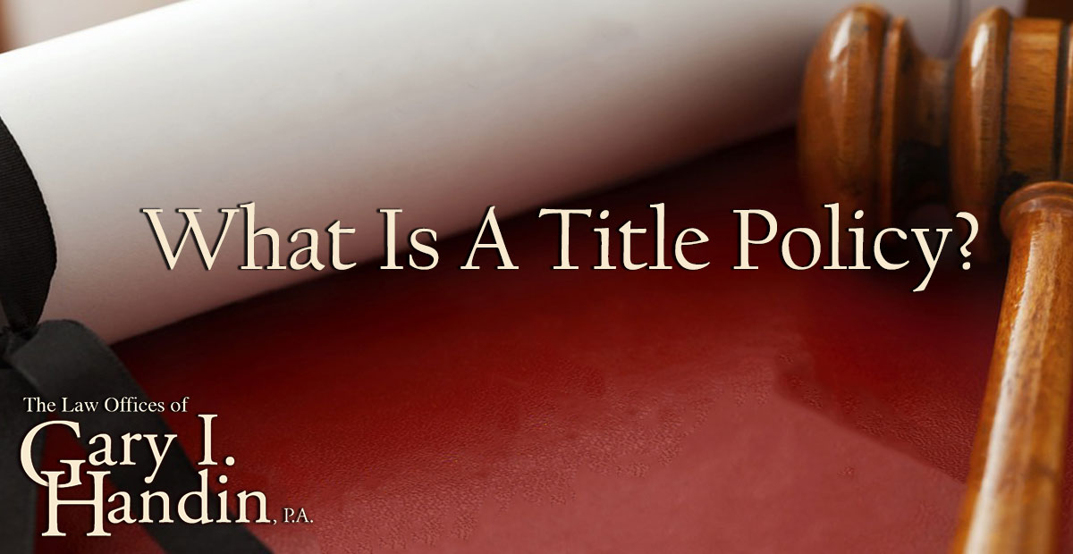 what is a title policy
