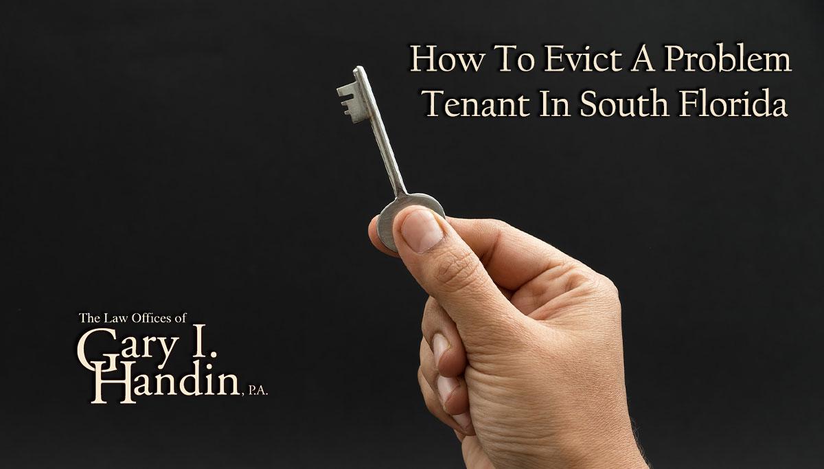 evict a problem tenant